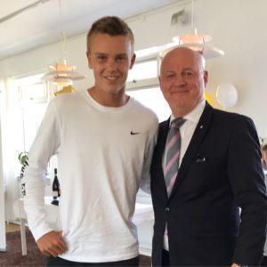 Holger Rune og Henrik Klitvad fra Tennis Øst